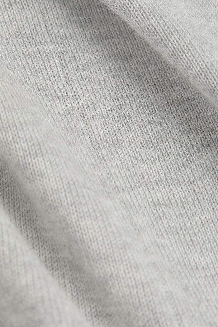 Cardigan mit Organic Cotton, LIGHT GREY, detail image number 4