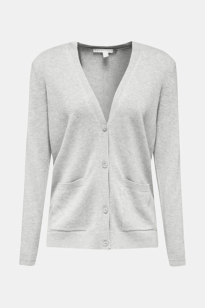 Cardigan mit Organic Cotton, LIGHT GREY, detail image number 5