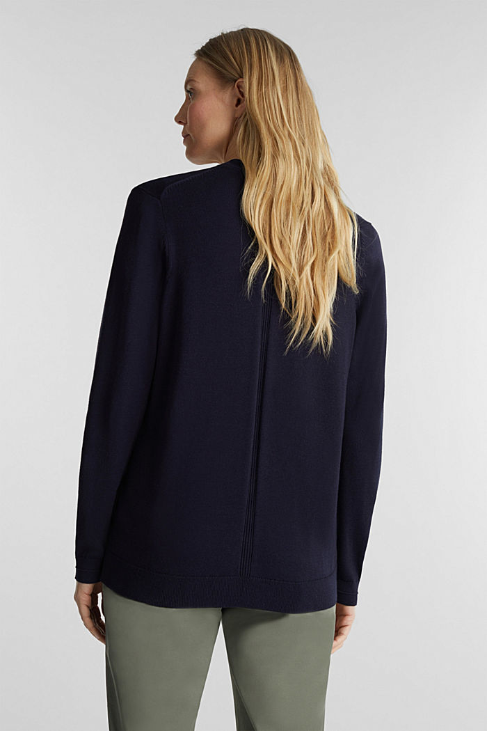 Cardigan with organic cotton, NAVY, detail image number 3