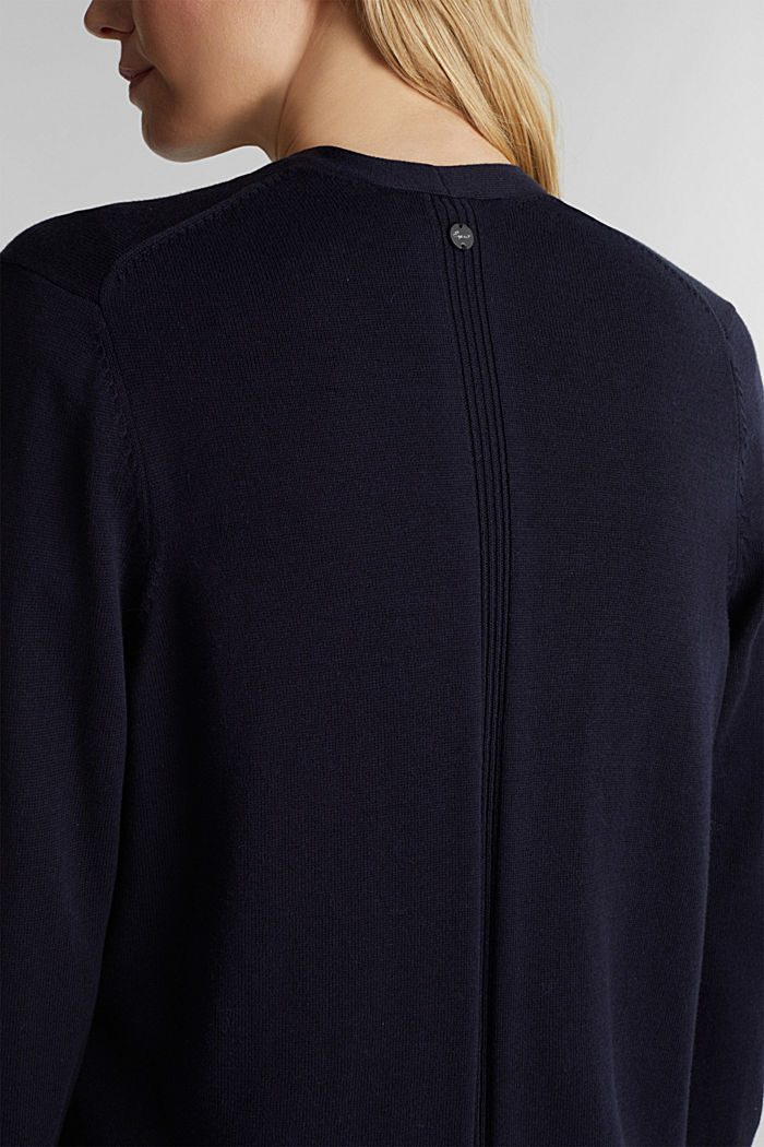 Cardigan with organic cotton, NAVY, detail image number 2