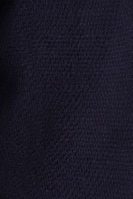 Cardigan with organic cotton, NAVY, detail