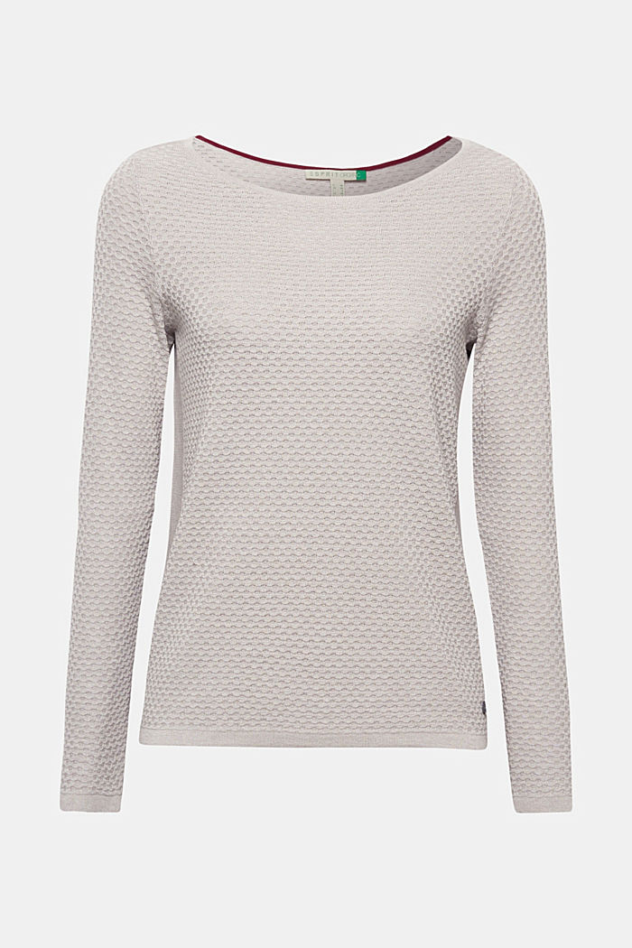 Baumwoll-Pullover mit Organic Cotton, LIGHT GREY, detail image number 0
