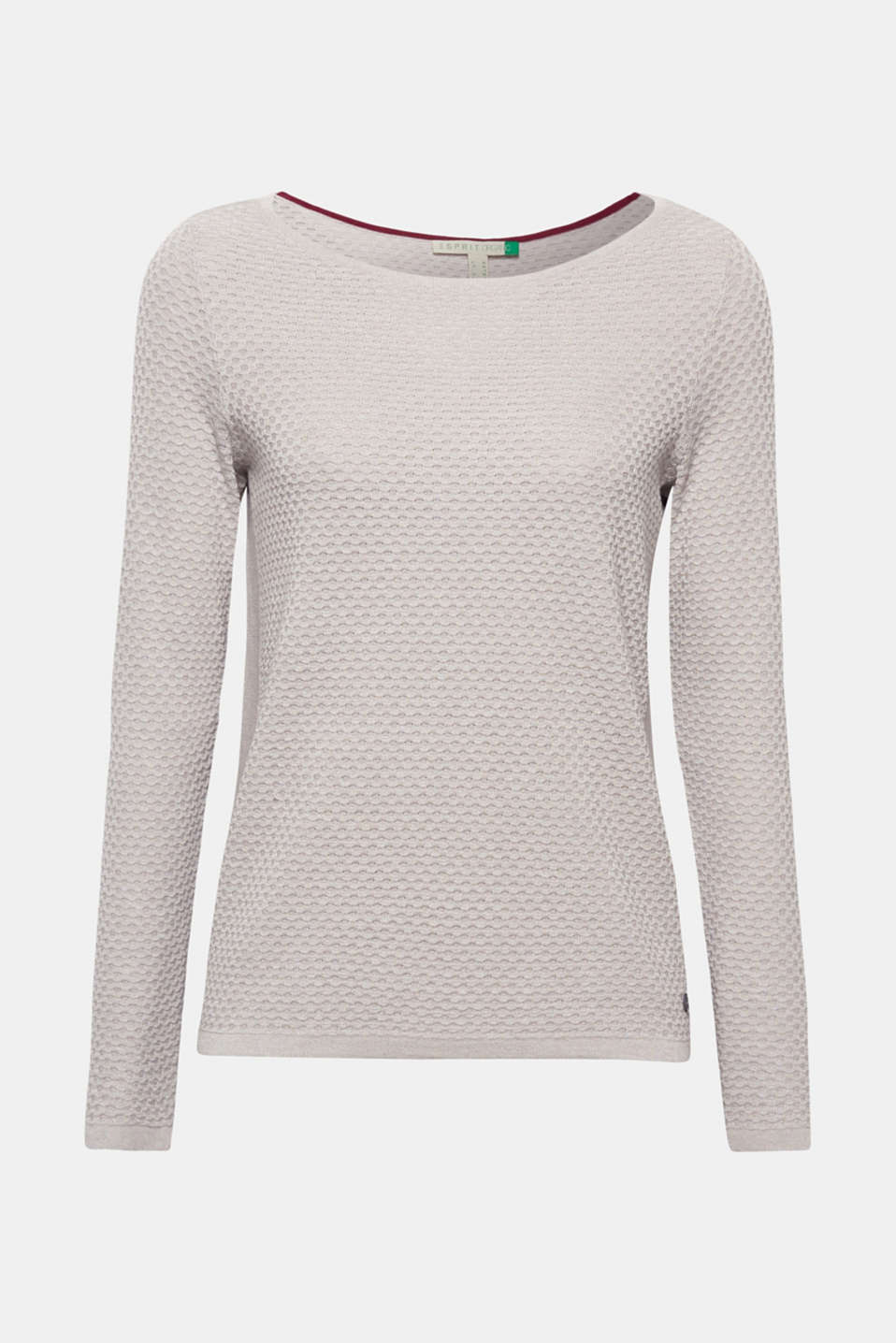 Cotton jumper with organic cotton, LIGHT GREY 5, detail image number 7