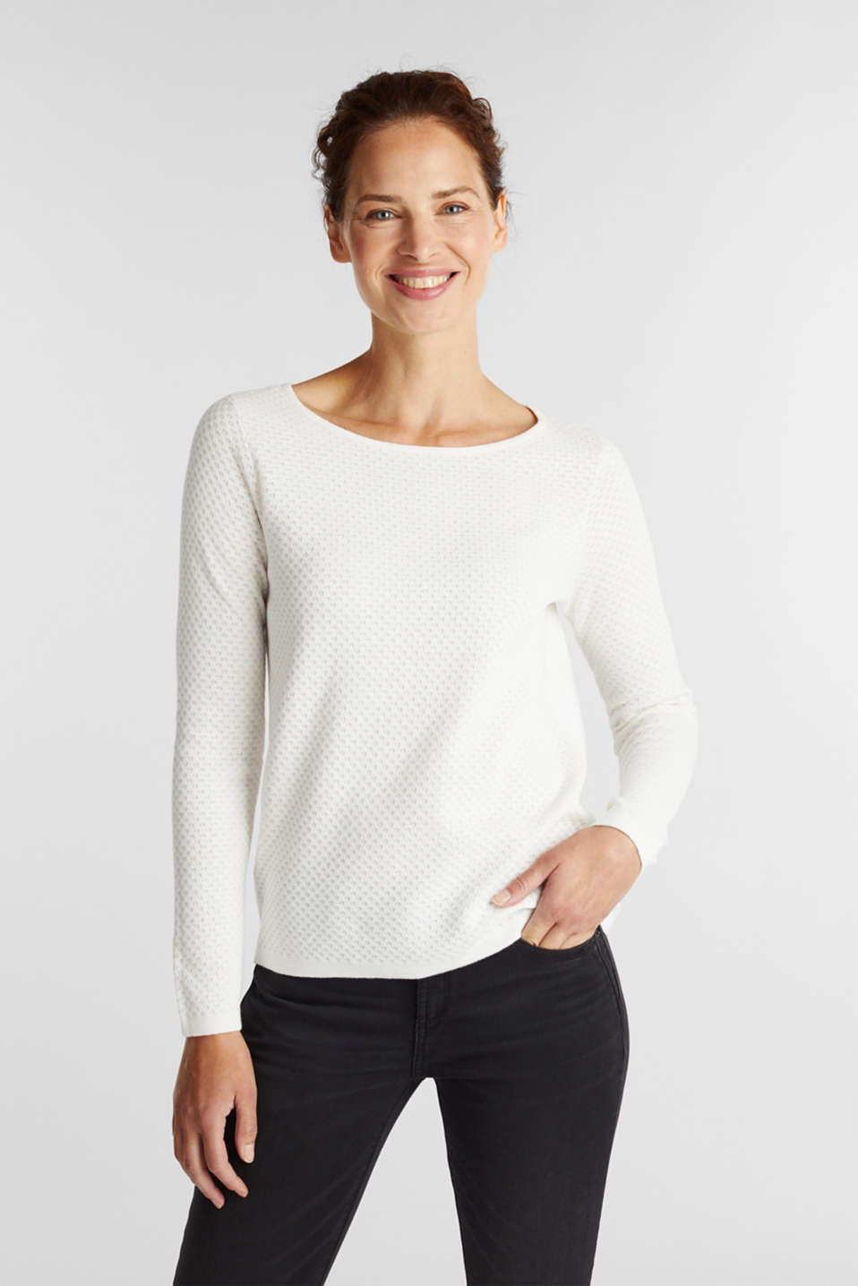 Esprit - Cotton jumper with organic cotton