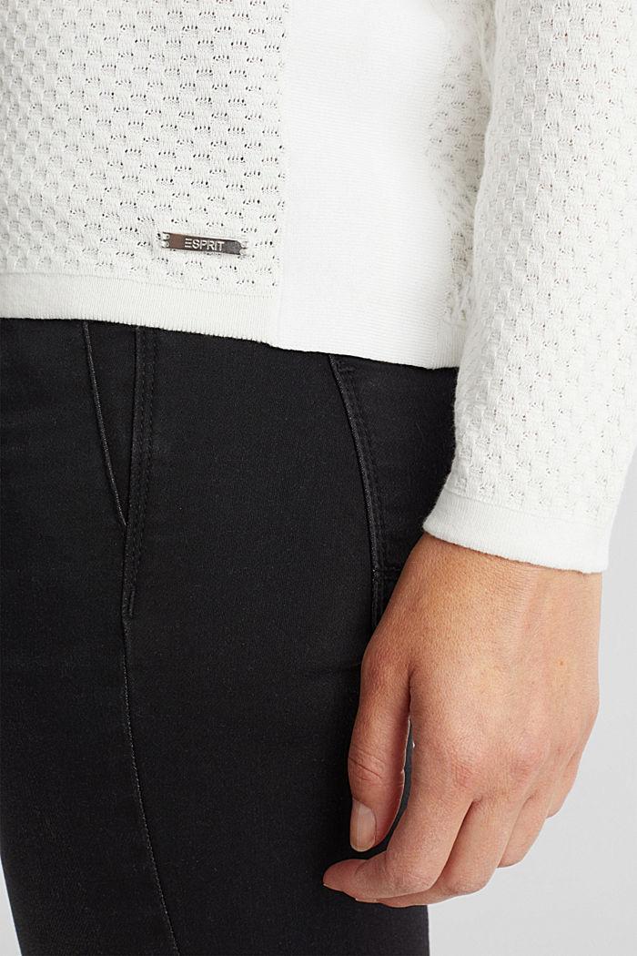 Baumwoll-Pullover mit Organic Cotton, OFF WHITE, detail image number 4