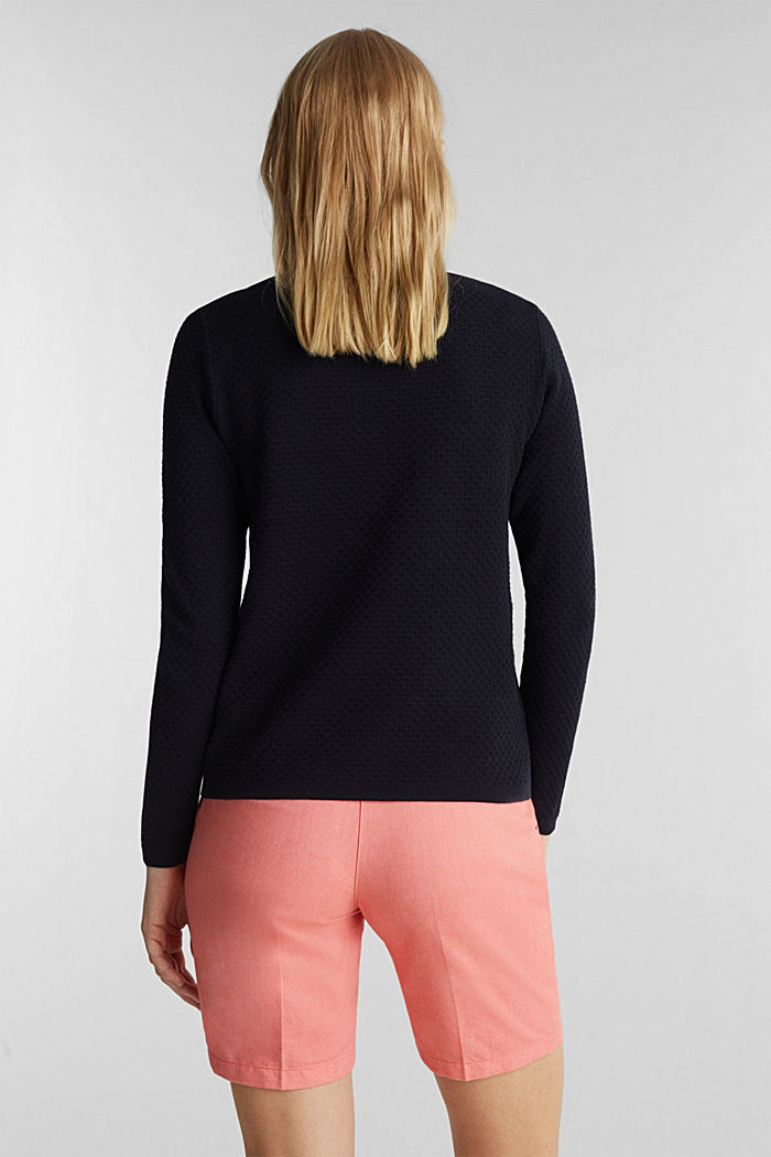 Cotton jumper with organic cotton, NAVY, detail image number 3