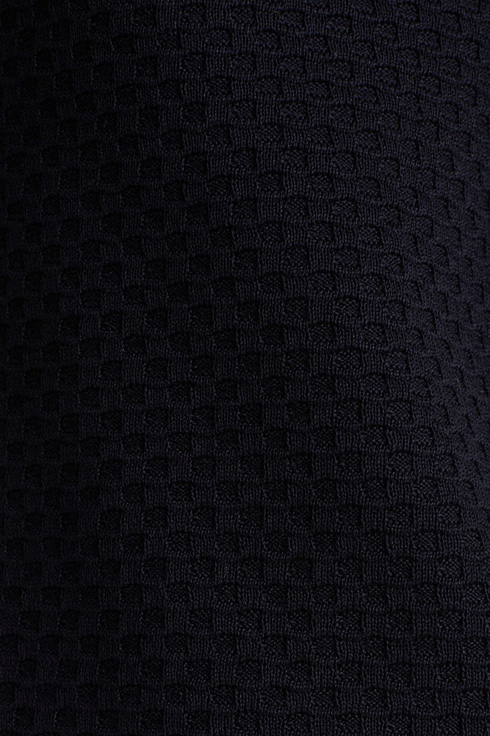 Cotton jumper with organic cotton, NAVY, detail image number 4