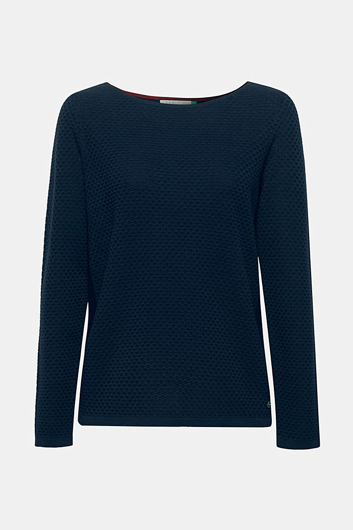Cotton jumper with organic cotton, NAVY, detail image number 5