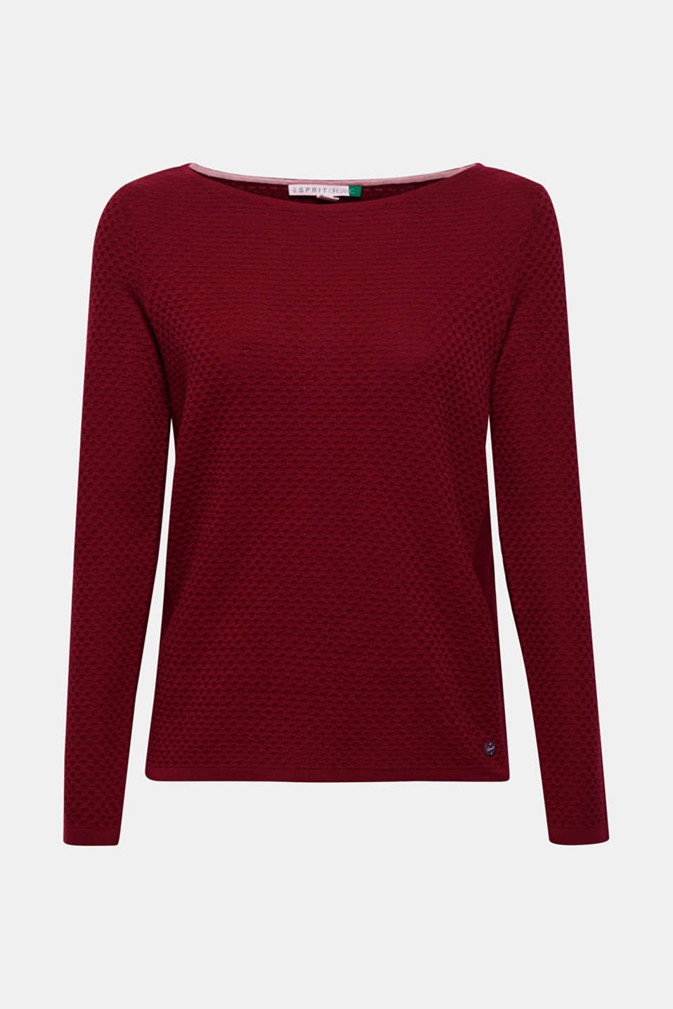 Sweaters, GARNET RED, detail image number 5