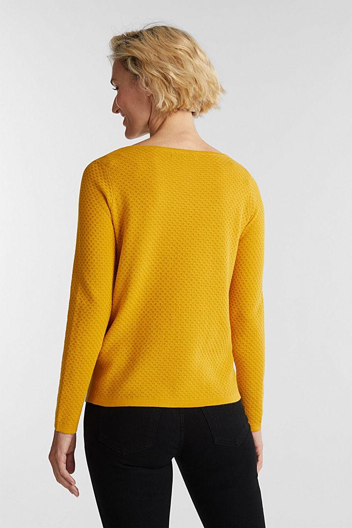 Baumwoll-Pullover mit Organic Cotton, BRASS YELLOW, detail image number 3