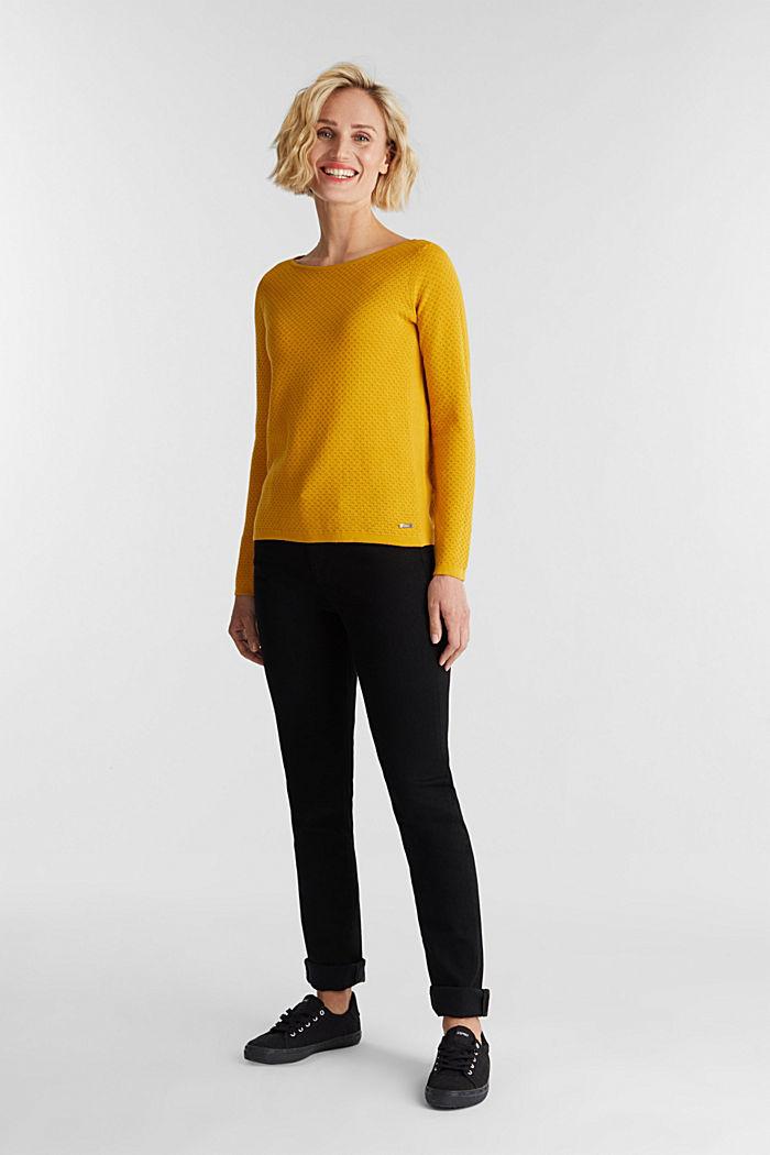 Baumwoll-Pullover mit Organic Cotton, BRASS YELLOW, detail image number 1