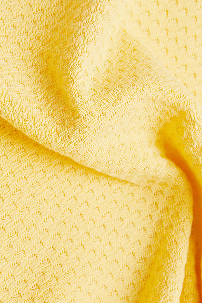 Baumwoll-Pullover mit Organic Cotton, YELLOW, detail image number 4