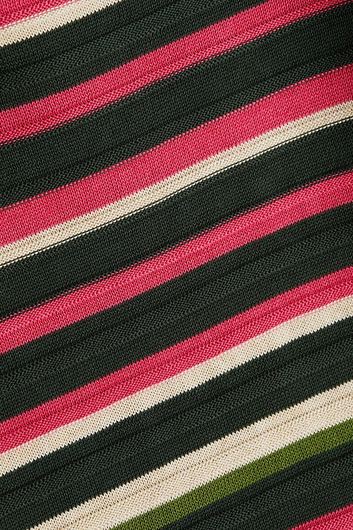 Textured jumper in 100% cotton, DARK GREEN, detail image number 4