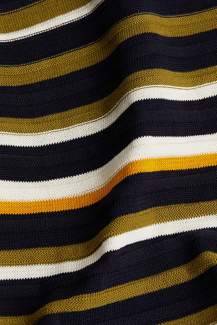 Textured jumper in 100% cotton, NAVY, detail image number 4