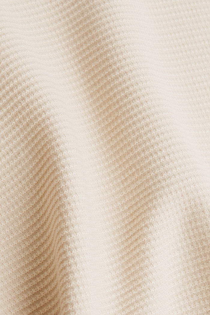 Basic jumper with a ribbed texture, SAND, detail image number 4