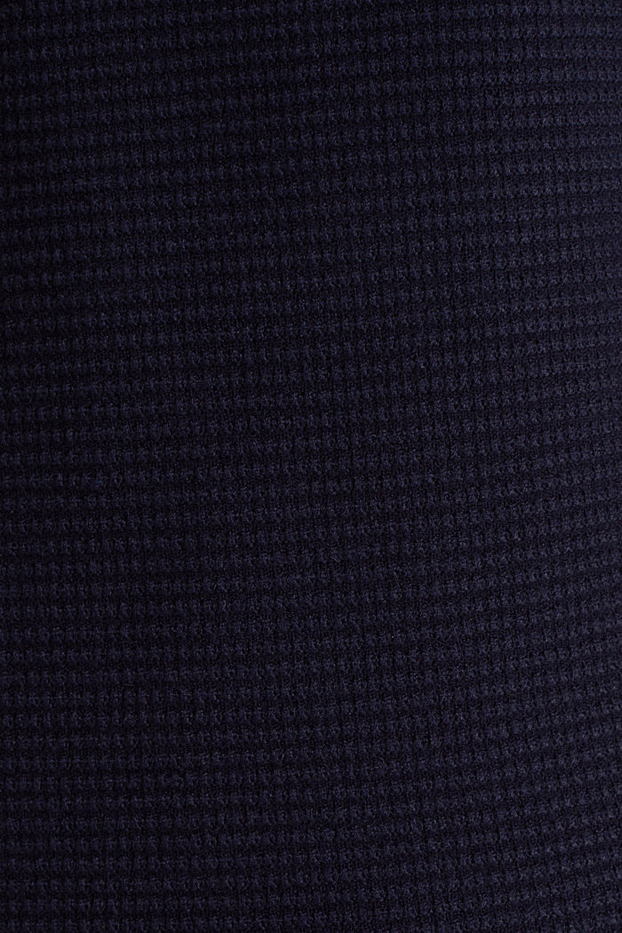 Basic jumper with a ribbed texture, NAVY, detail image number 4