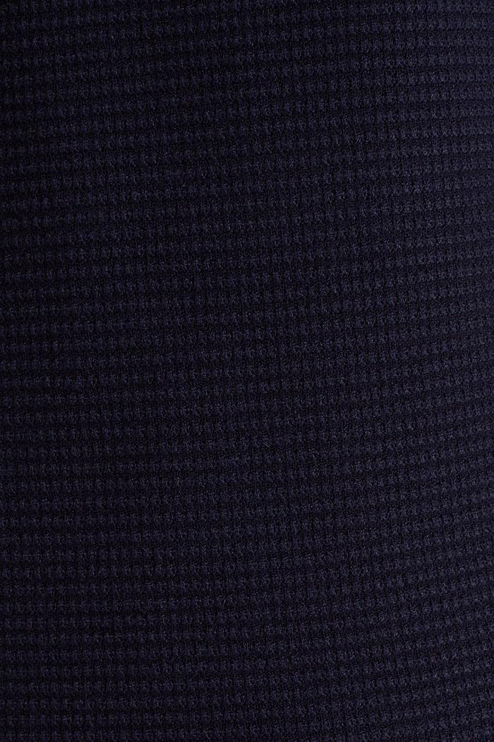 Basic-Pullover mit Ripp-Struktur, NAVY, detail image number 4
