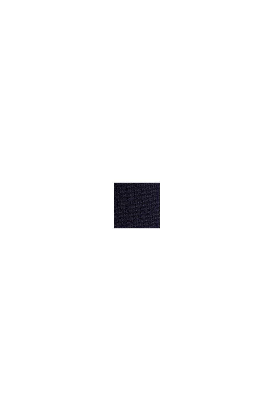 Basic trui met ribstructuur, NAVY, swatch