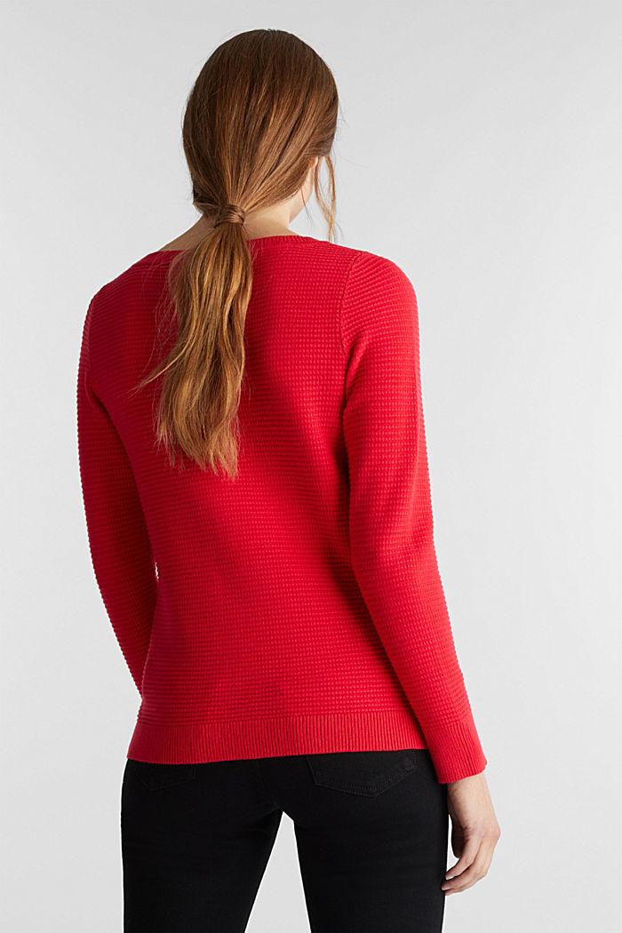 Basic-Pullover mit Ripp-Struktur, RED, detail image number 3