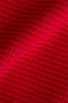 Basic jumper with a ribbed texture, RED, detail