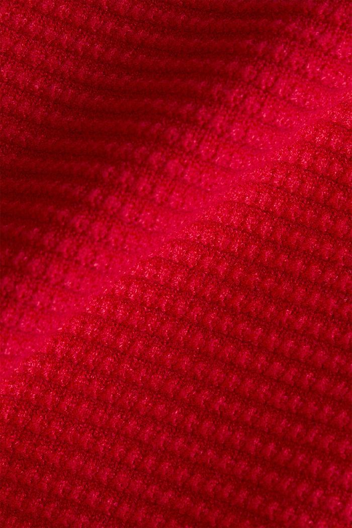 Basic-Pullover mit Ripp-Struktur, RED, detail image number 4