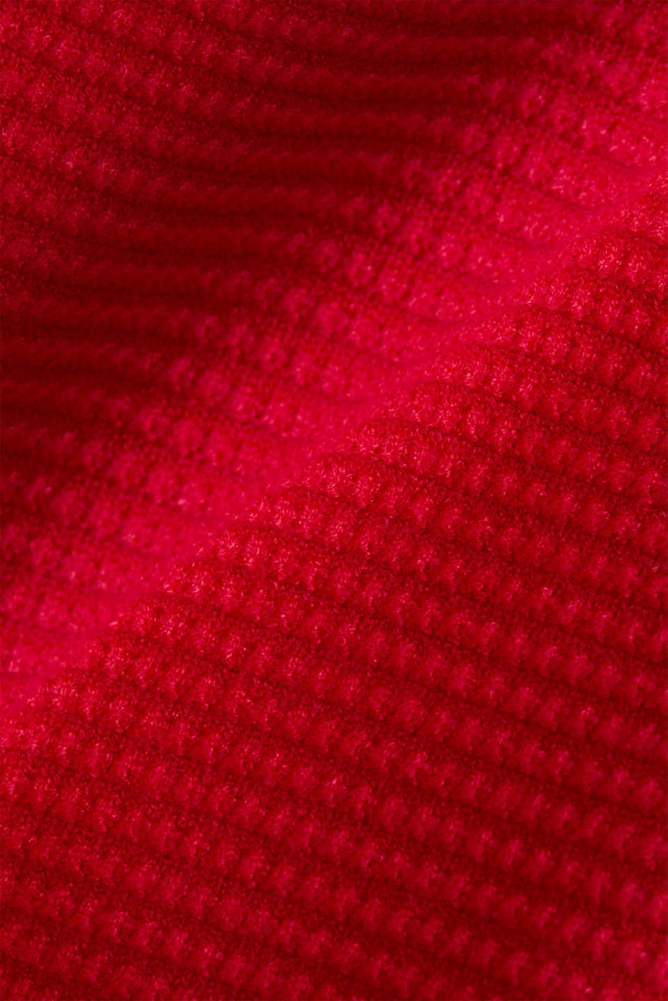 Basic jumper with a ribbed texture, RED, detail image number 4