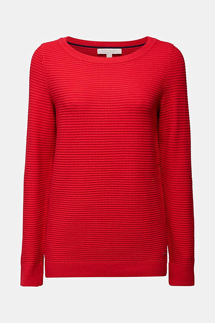 Basic-Pullover mit Ripp-Struktur, RED, detail image number 6