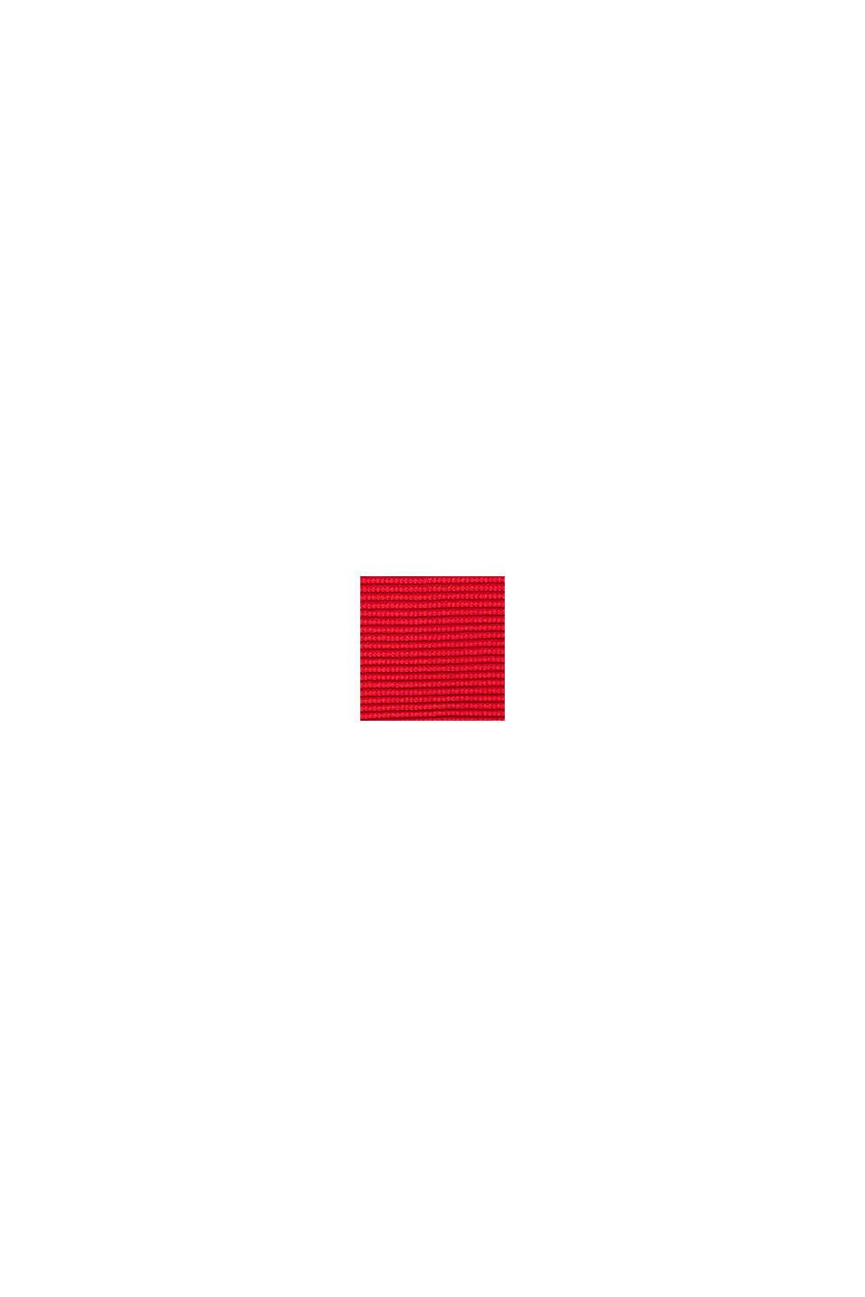 Basic trui met ribstructuur, RED, swatch