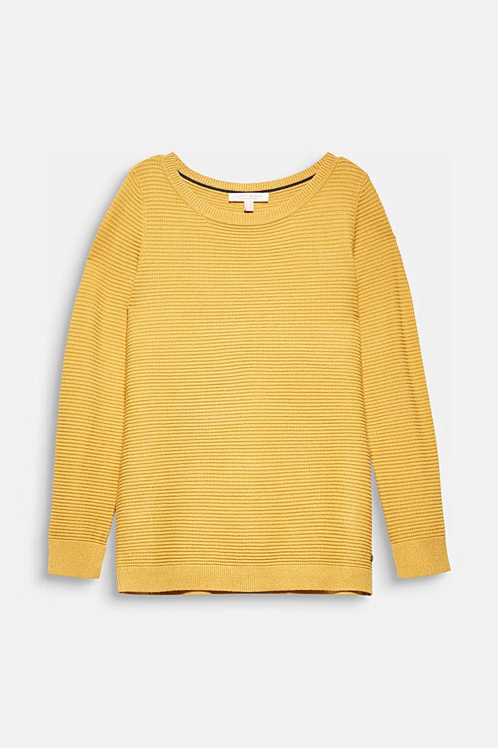 Basic-Pullover mit Ripp-Struktur
