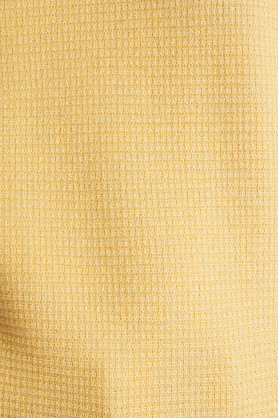 Basic jumper with a ribbed texture, YELLOW, detail image number 4