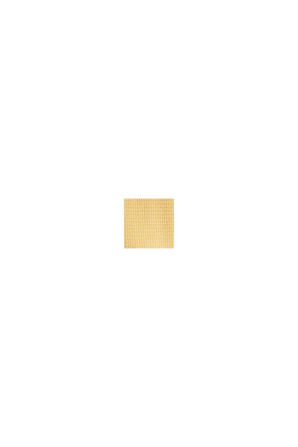 Basic trui met ribstructuur, YELLOW, swatch