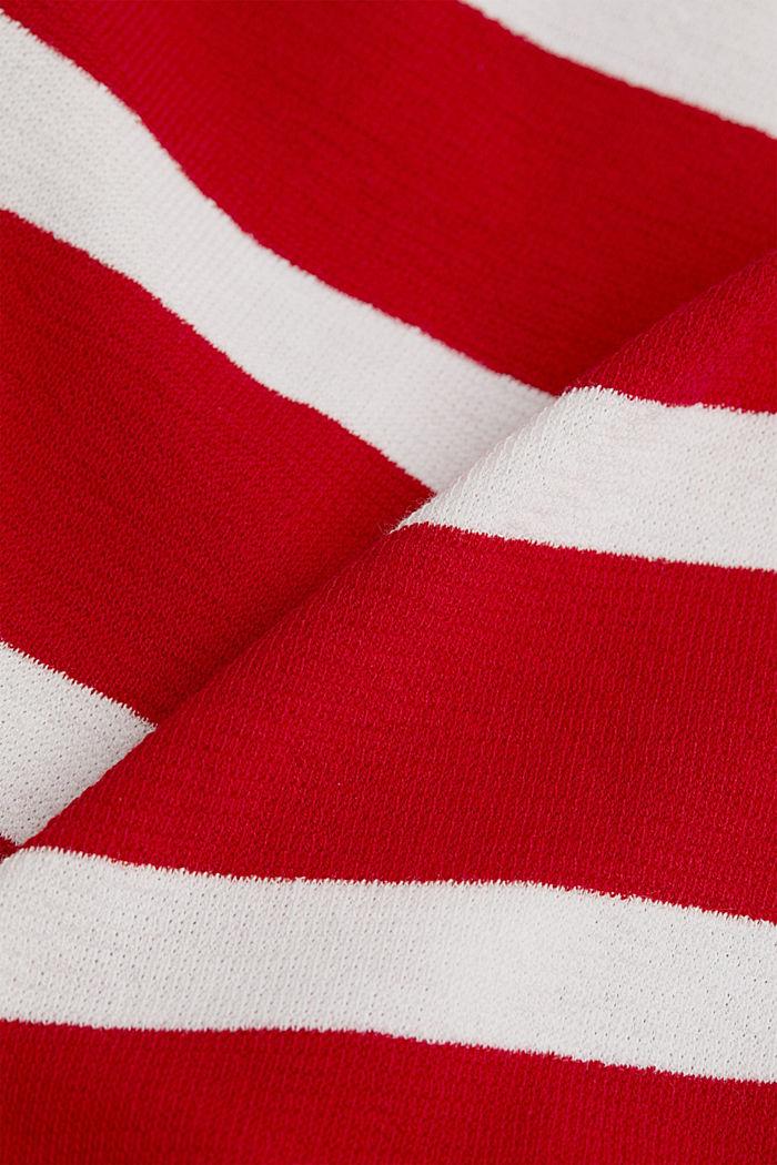 Gestreiftes Longsleeve, 100% Baumwolle, DARK RED, detail image number 4