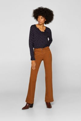 Polka dot top with cloth details, NAVY, detail