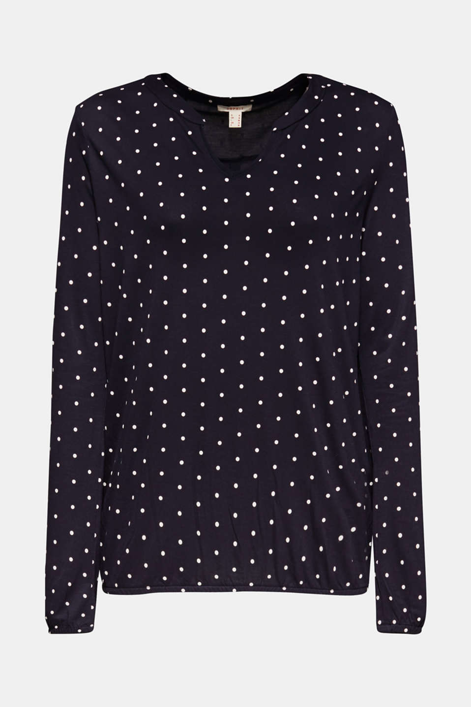 Polka dot top with cloth details, NAVY, detail image number 7
