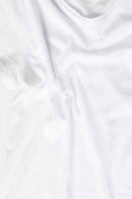Lightweight slub T-shirt in 100% cotton, WHITE, detail