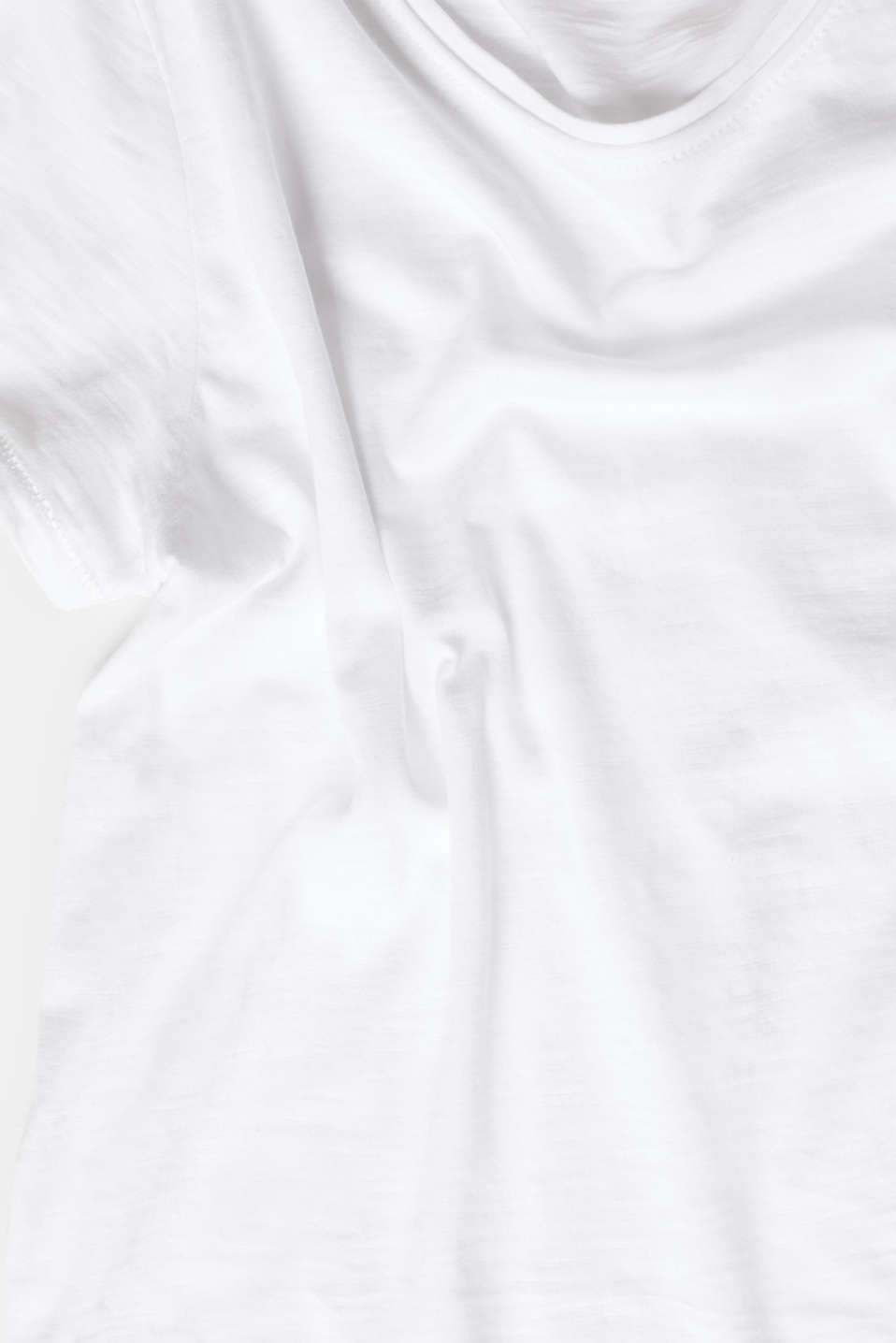 Lightweight slub T-shirt in 100% cotton, WHITE, detail image number 4