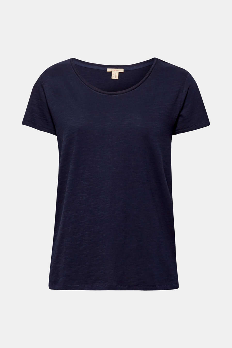 Lightweight slub T-shirt in 100% cotton, NAVY, detail image number 6