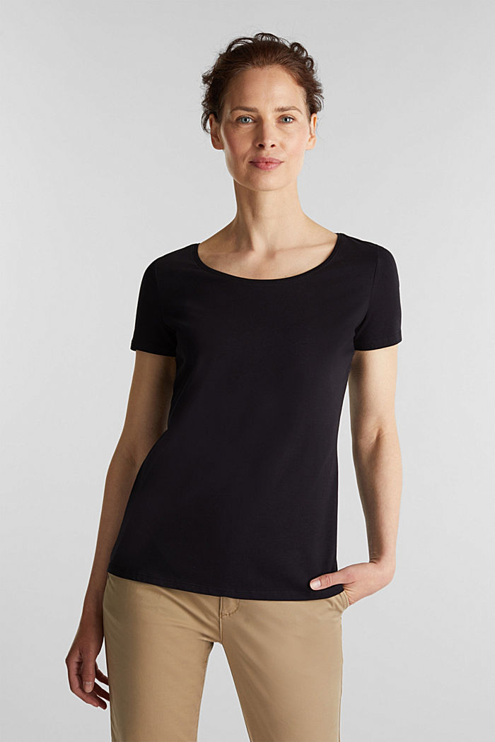 Basic-Shirt aus Baumwoll-Stretch