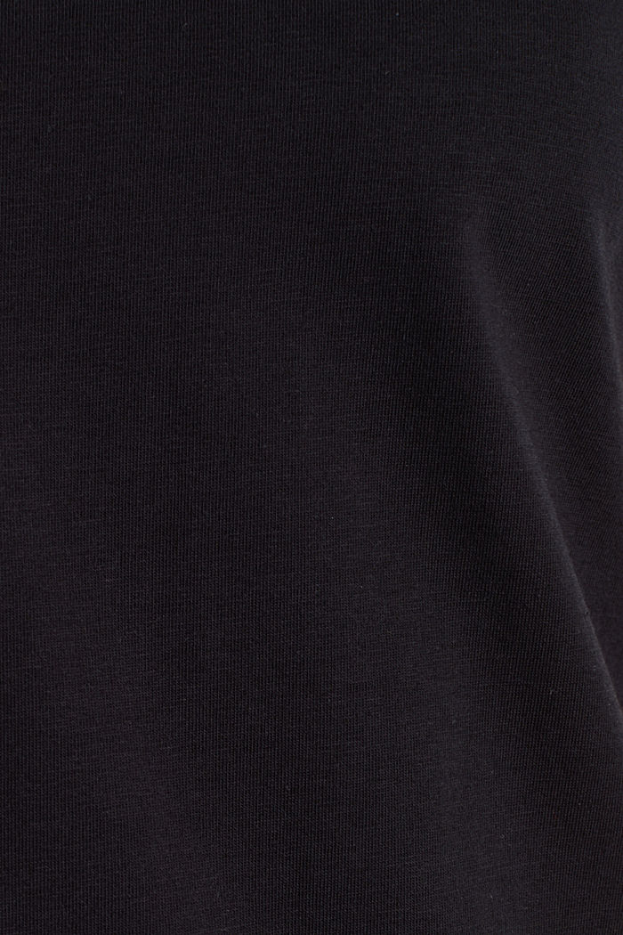 Basic shirt van katoen met stretch, BLACK, detail image number 4