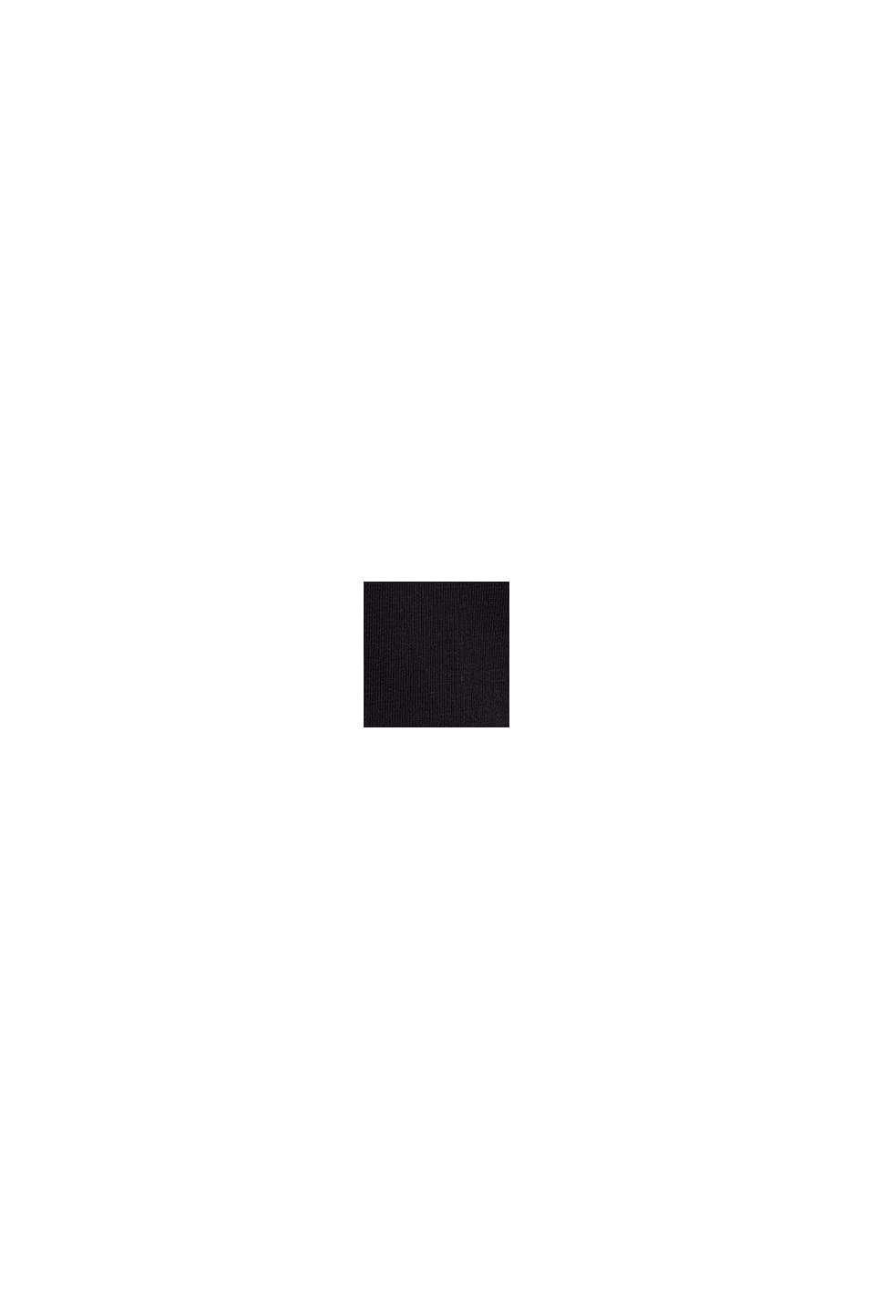 Rundhals-T-Shirt aus Bio-Baumwolle/Stretch, BLACK, swatch