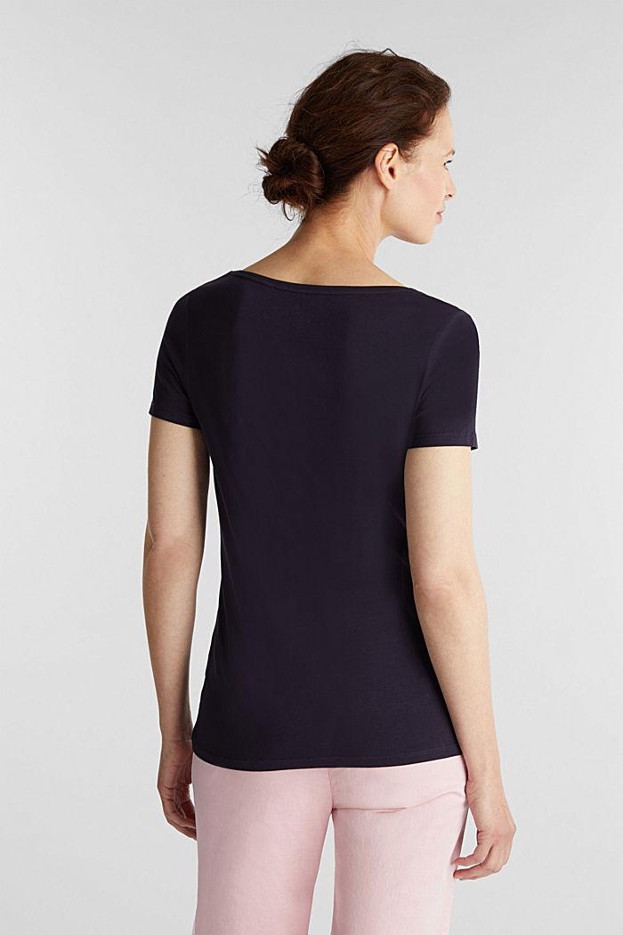 Basic-Shirt aus Baumwoll-Stretch, NAVY, detail image number 3