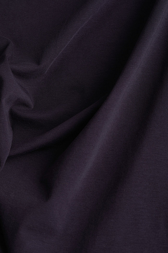 Basic-Shirt aus Baumwoll-Stretch, NAVY, detail image number 4
