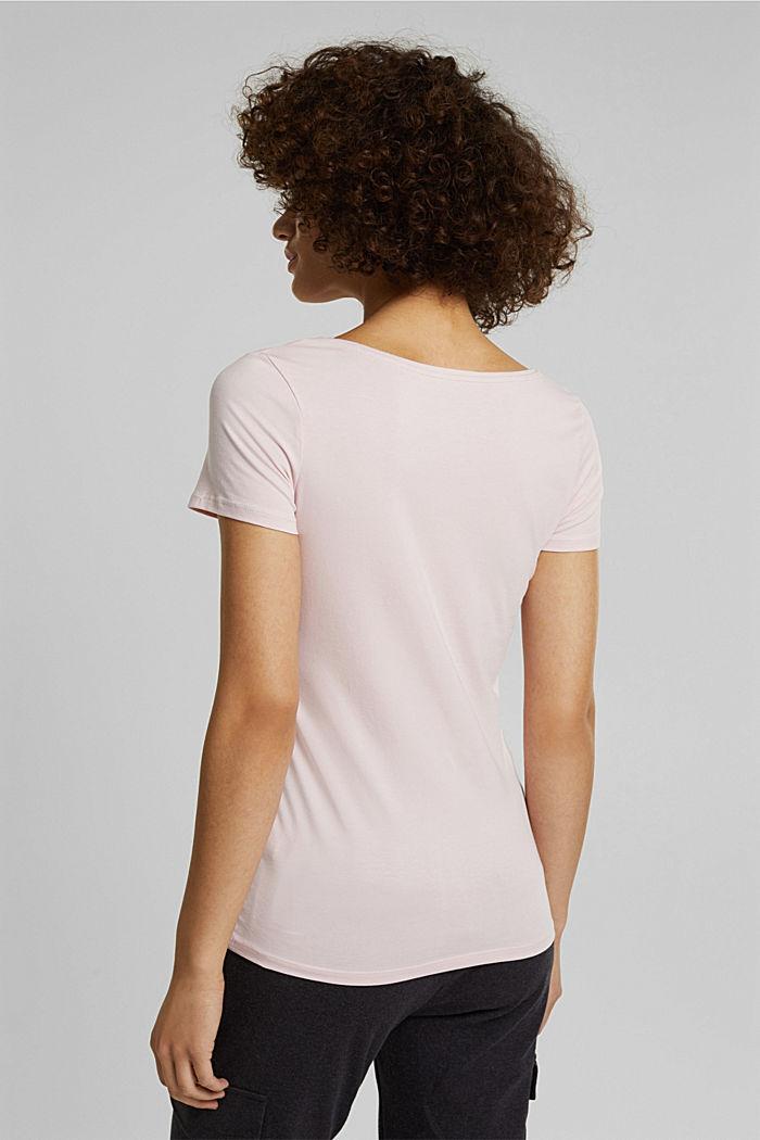 Basic, stretch cotton T-shirt, LIGHT PINK, detail image number 3