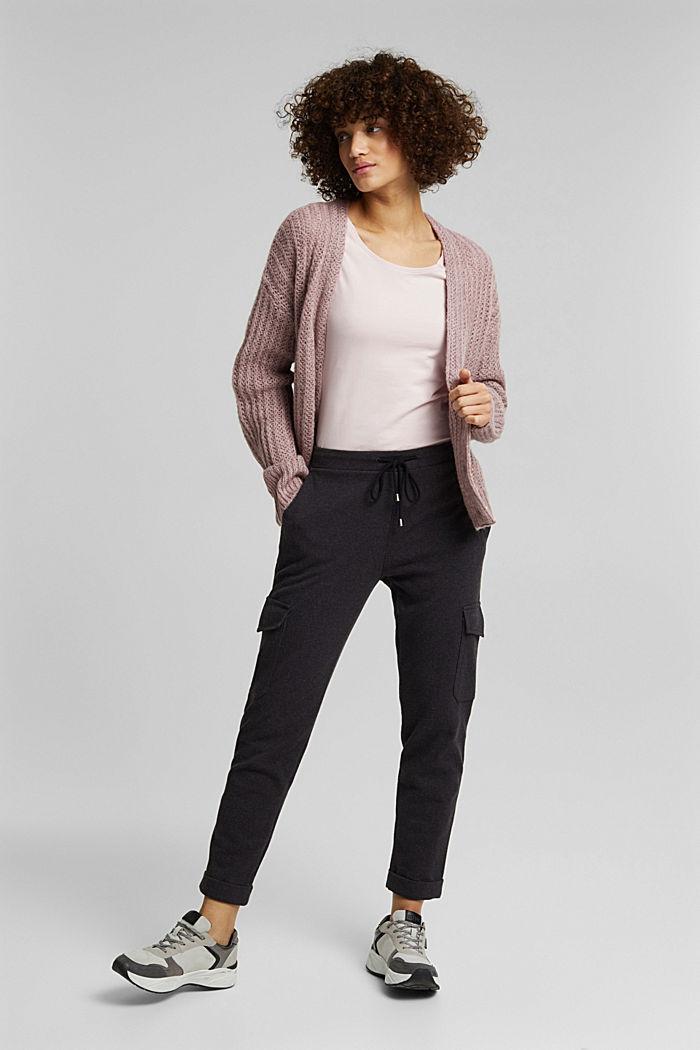 Basic, stretch cotton T-shirt, LIGHT PINK, detail image number 1
