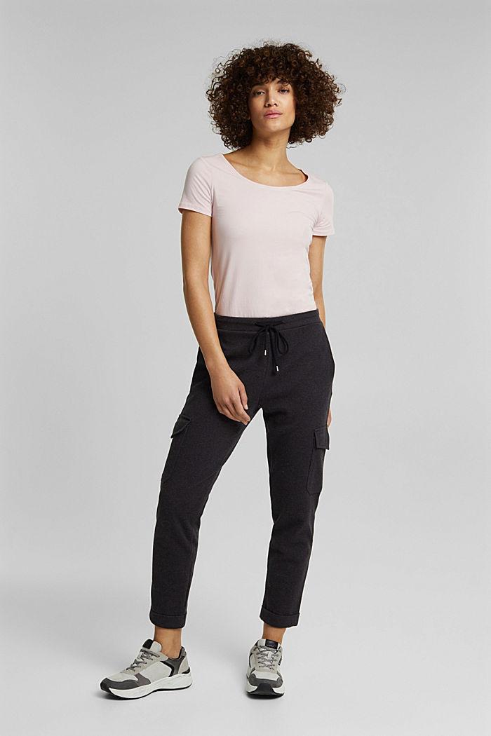 Basic, stretch cotton T-shirt, LIGHT PINK, detail image number 6