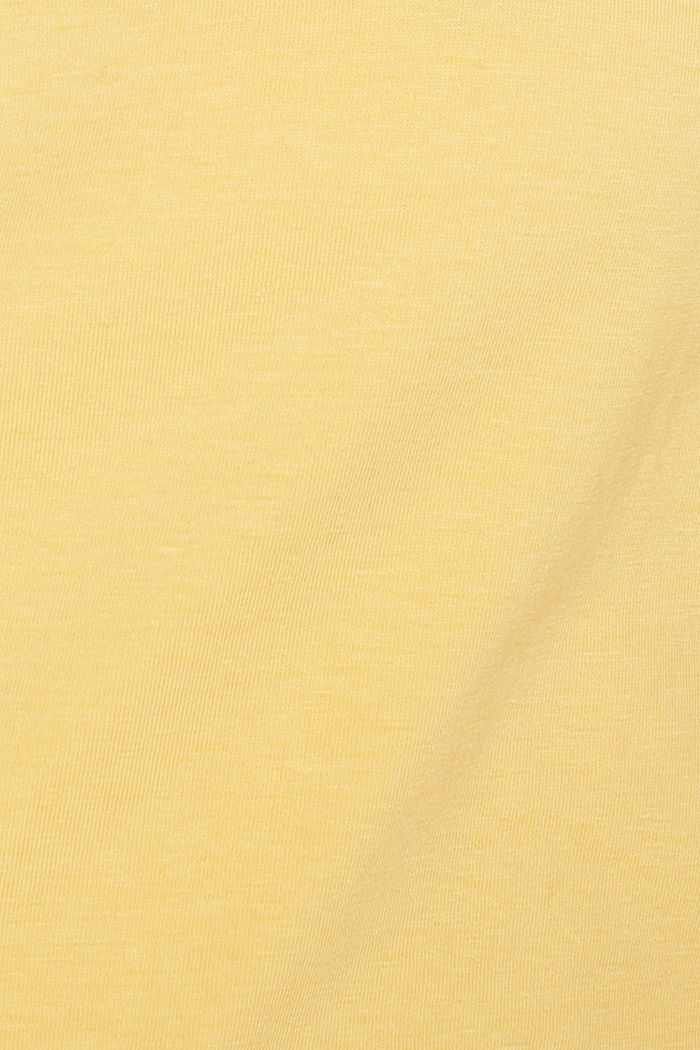 Basic shirt van katoen met stretch, YELLOW, detail image number 4