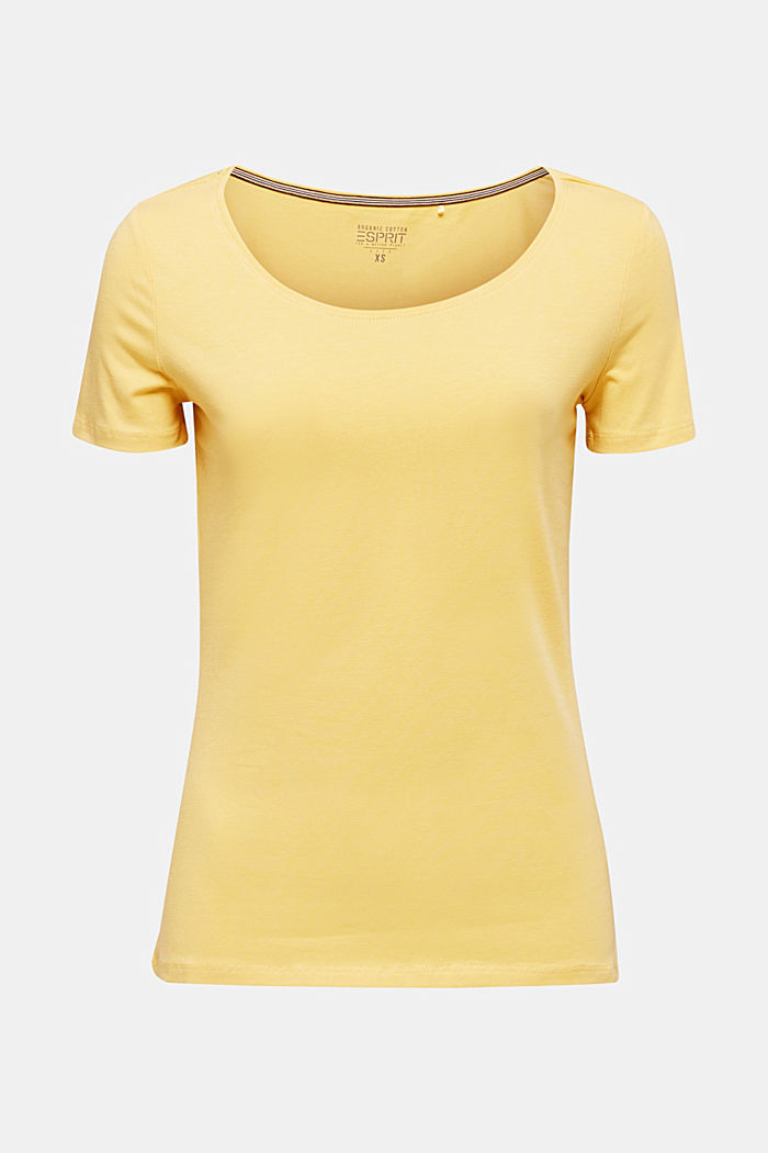 Basic shirt van katoen met stretch, YELLOW, detail image number 6