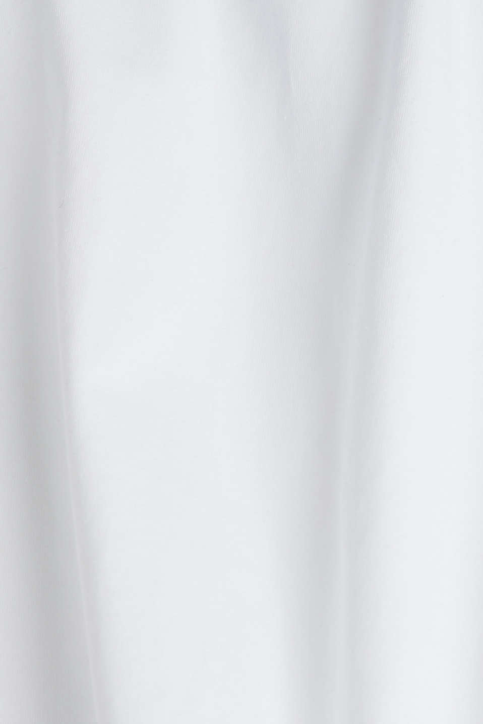 Stretch long sleeve top with organic cotton, WHITE, detail image number 4