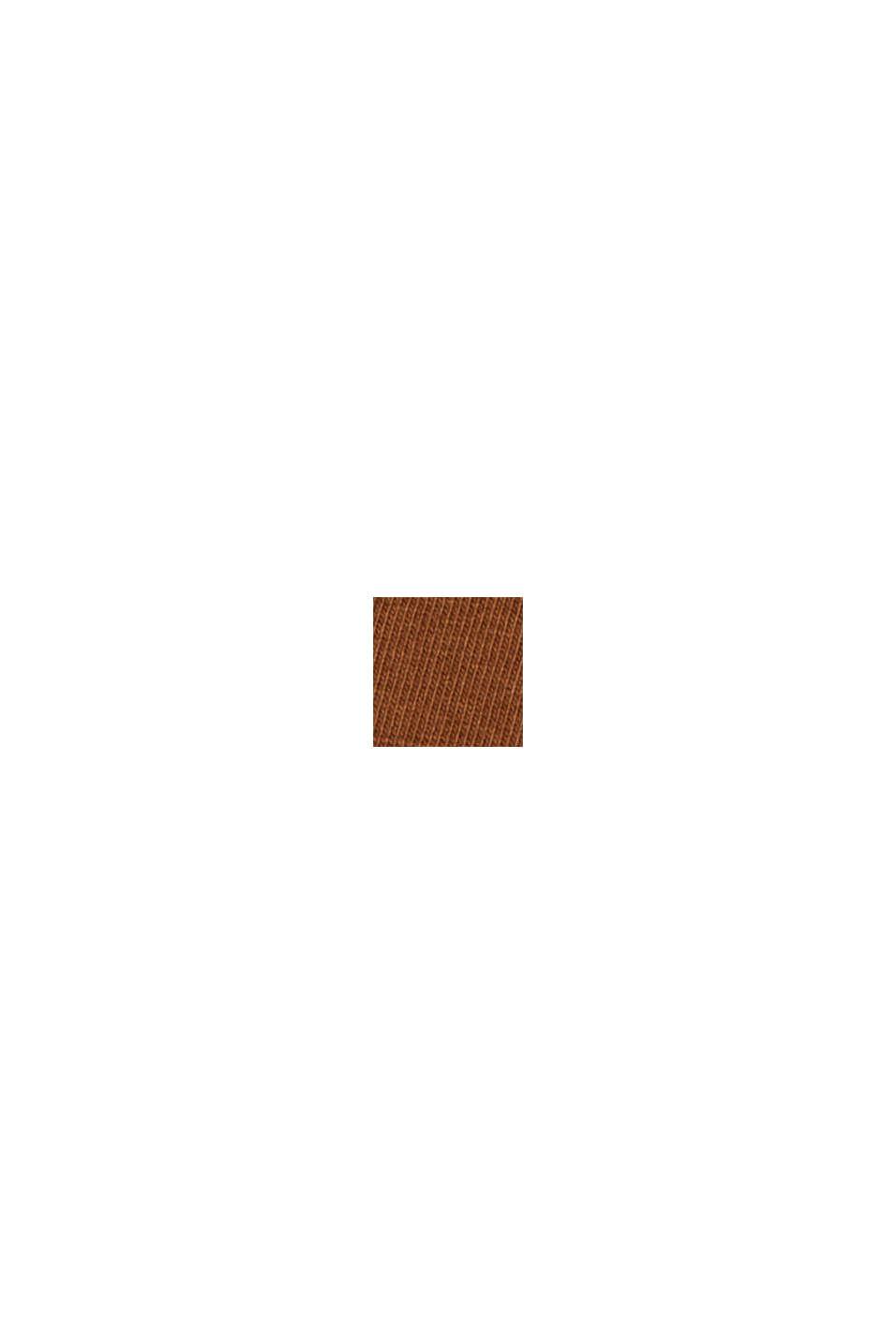 V-Neck-Longsleeve aus Bio-Baumwolle/Stretch, TOFFEE, swatch