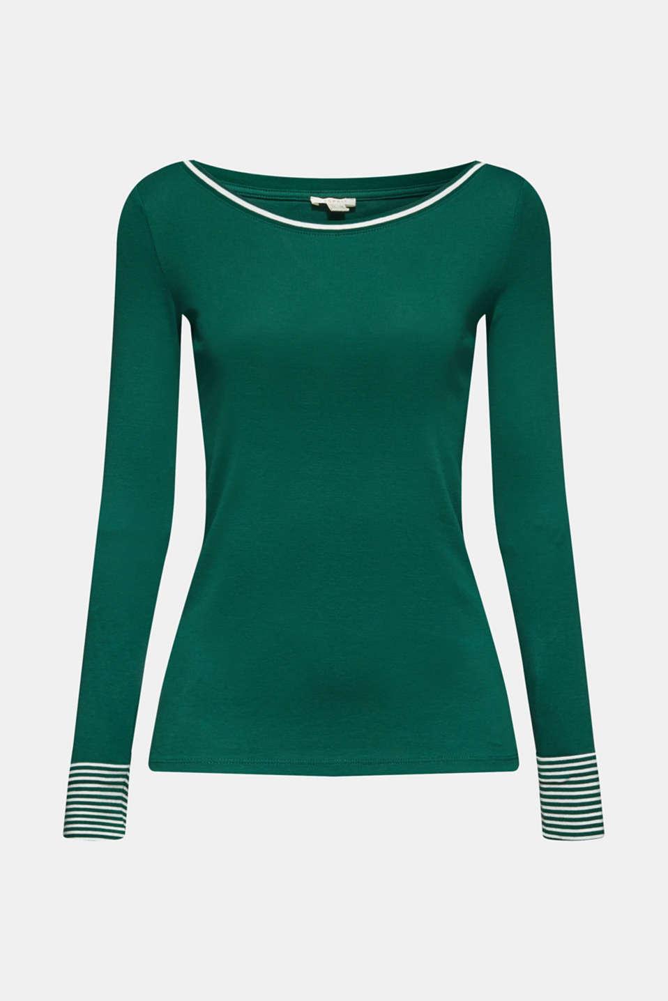 T-Shirts, BOTTLE GREEN, detail image number 6
